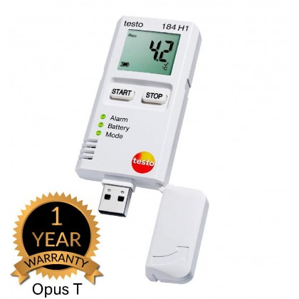 testo 184 H1 - Air humidity and temperature data logger for transport monitoring