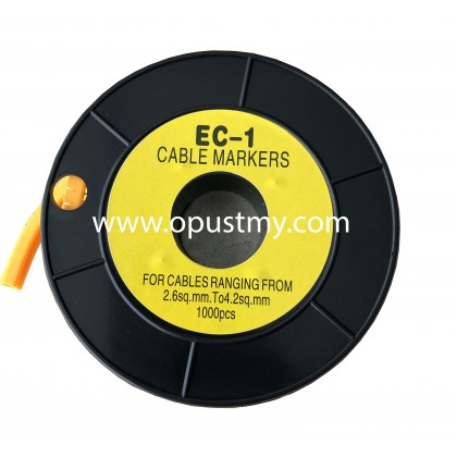 OpusT CABLE MARKERS EC-1 ALPHABET (100pcs/pack) (A to P)