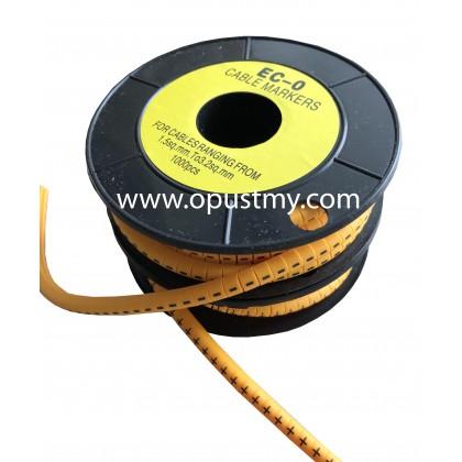 OpusT CABLE MARKERS EC-0 SYMBOL (100pcs/pack) (+ -)