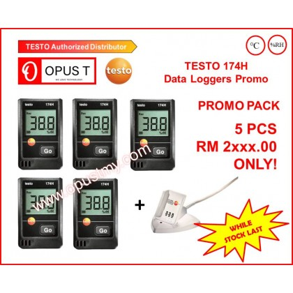 testo 174 H Pack of 5 - Temperature and humidity mini data logger