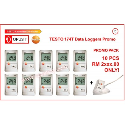 testo 174 T Pack of 10 - Mini temperature data logger