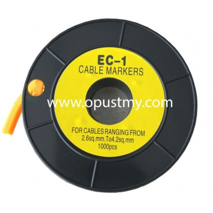 OpusT CABLE MARKERS EC-1 NUMBER (100pcs/pack) (0 to 9)