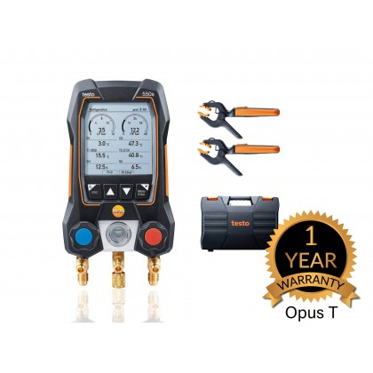 testo 550s Smart Kit - Smart digital manifold with wireless clamp temperature probes